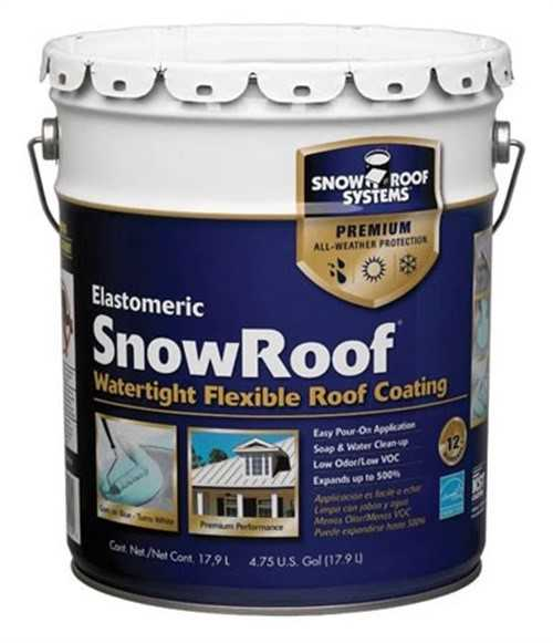 KST COATINGS KST000SRB-20 Premium Roof Coating, White, 4.75 gal.