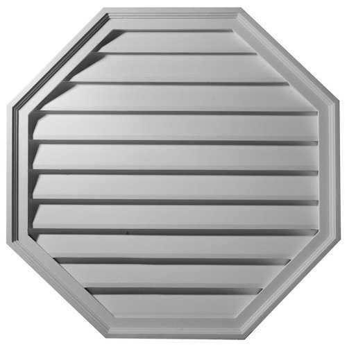 18'W x 18'H x 2 1/2'P, Octagon Gable Vent Louver, Decorative