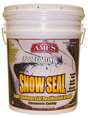 Ames Research Laboratories SSC5 Snow Seal Premium Roof Coating, Contractor Grade, Elastomeric, Bright White, 5-Gals.