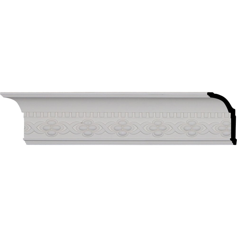 Ekena Millwork Polyurethane Crown Moldings/Dentil Crown Molding 3' Repeat / 4 3/8'H x 3 1/8'P x 5 1/4'F x 96'