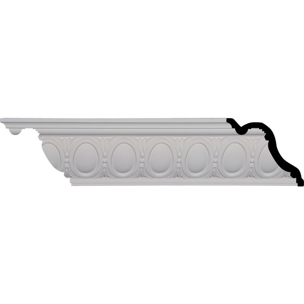 Ekena Millwork Polyurethane Crown Moldings/Egg and Dart Crown Molding 3 3/8' Repeat / 5 1/8'H x 6'P x 7 7/8'F x 96 1/8'
