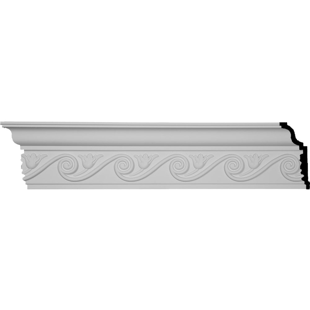 Ekena Millwork Polyurethane Crown Moldings/Floral Crown Molding 5 3/8' Repeat / 6 1/4'H x 2 3/4'P x 7'F x 96'
