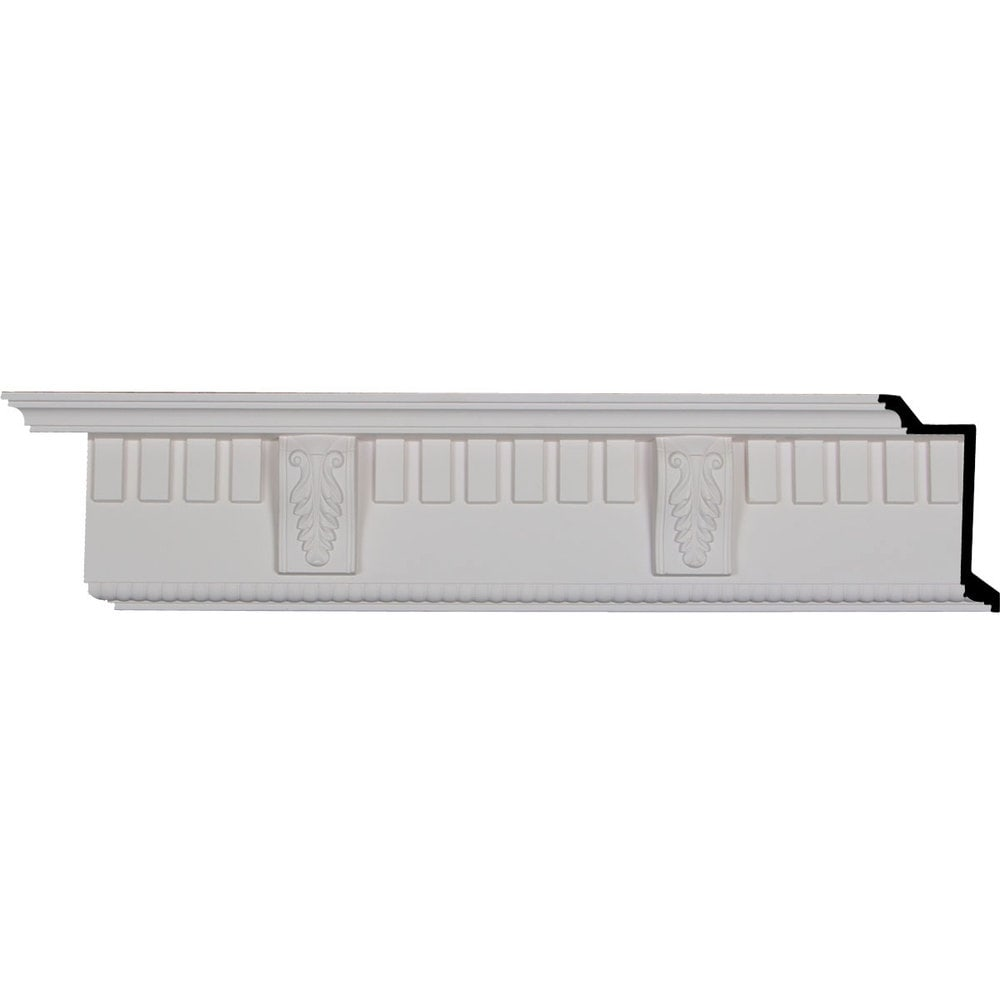 Ekena Millwork Polyurethane Crown Moldings/Dentil With Bead Crown Molding 10 5/8' Repeat / 5 3/4'H x 3 7/8'P x 6 3/4'F x 95 3/4'