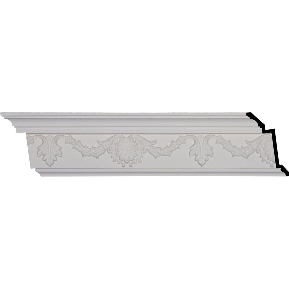 Ekena Millwork Polyurethane Crown Moldings/Shell Crown Molding 16' Repeat / 6 1/4'H x 3 3/8'P x 7'F x 96 1/8'