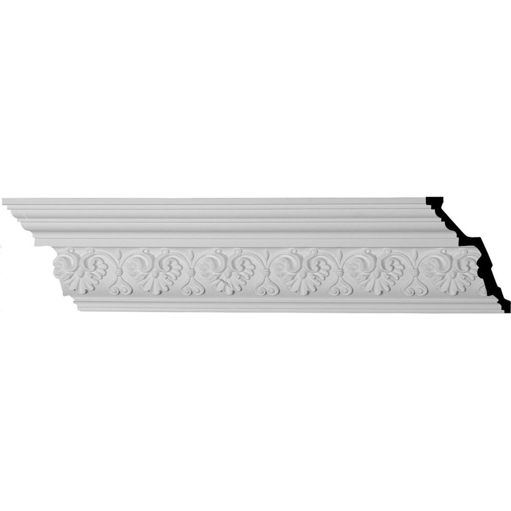 Ekena Millwork Polyurethane Crown Moldings/Large Elegant Hampshire Crown Molding / 6'H x 4 1/8'P x 7 1/4'F x 94 1/2'