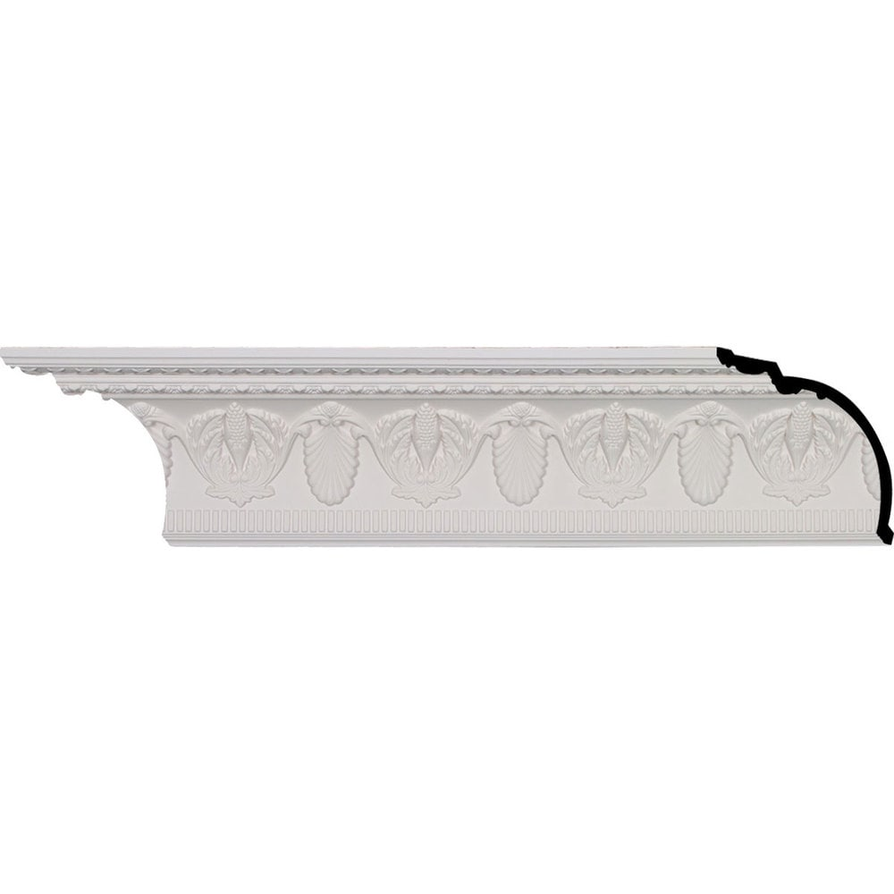 Ekena Millwork Polyurethane Crown Moldings/Harvest Crown Molding 6 1/2' Repeat / 6 3/4'H x 5 7/8'P x 8 7/8'F x 96 1/8'