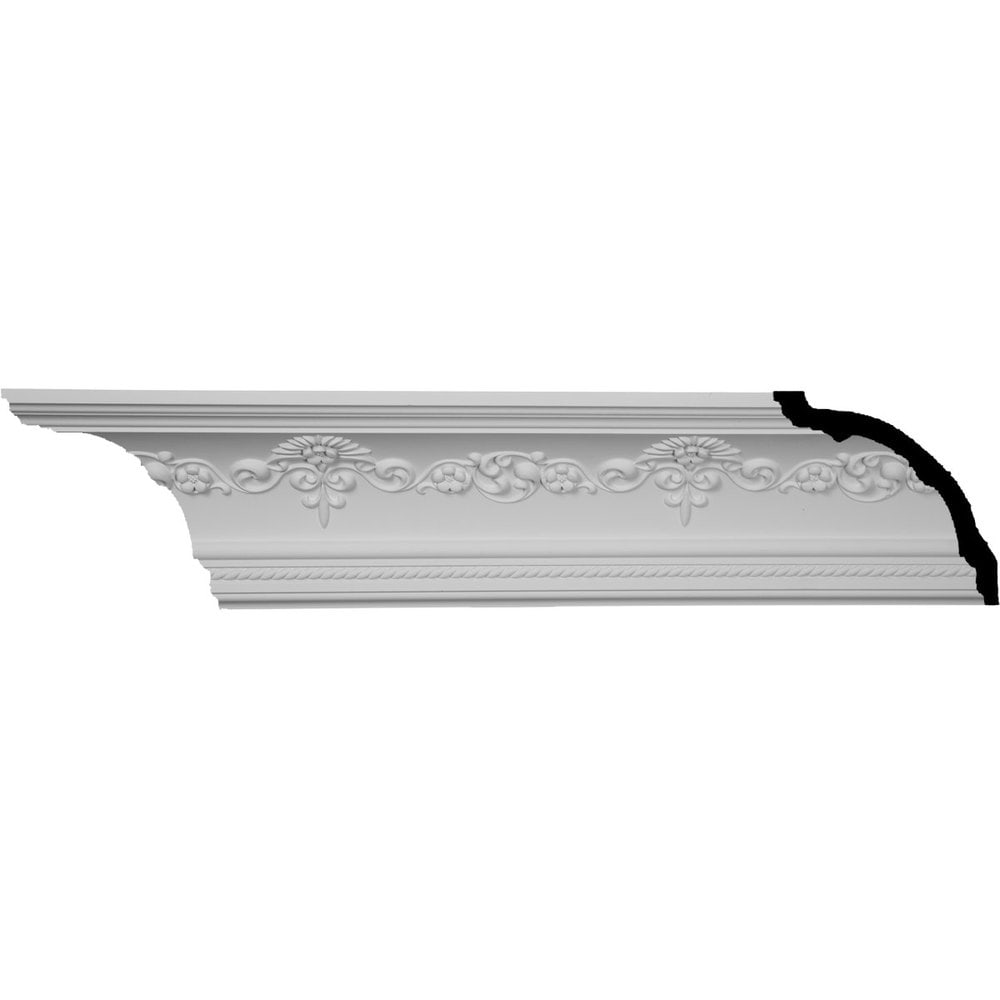 Ekena Millwork Polyurethane Crown Moldings/Sydney Crown Molding 11 3/4' Repeat / 6 1/4'H x 6 1/4'P x 8 7/8'F x 94 1/2'