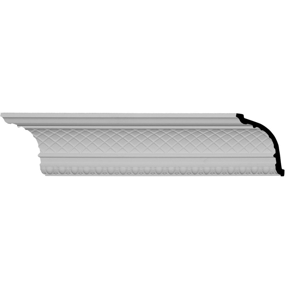 Ekena Millwork Polyurethane Crown Moldings/Brightton Crown Molding 1 3/8' Repeat / 6'H x 6 3/8'P x 8 7/8'F x 95 5/8'