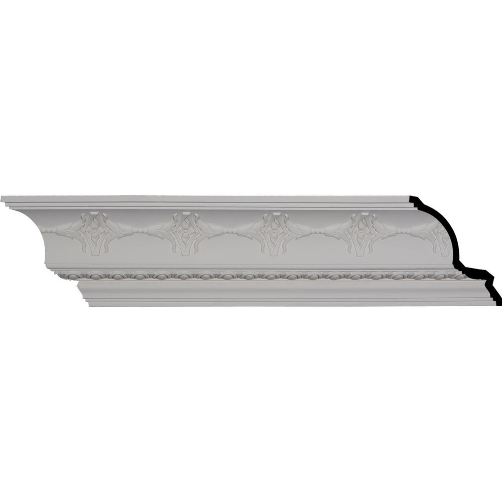 Ekena Millwork Polyurethane Crown Moldings/Egg and Dart Crown Molding 6 1/2' Repeat / 6 1/4'H x 7'P x 9 3/8'F x 96 1/8'