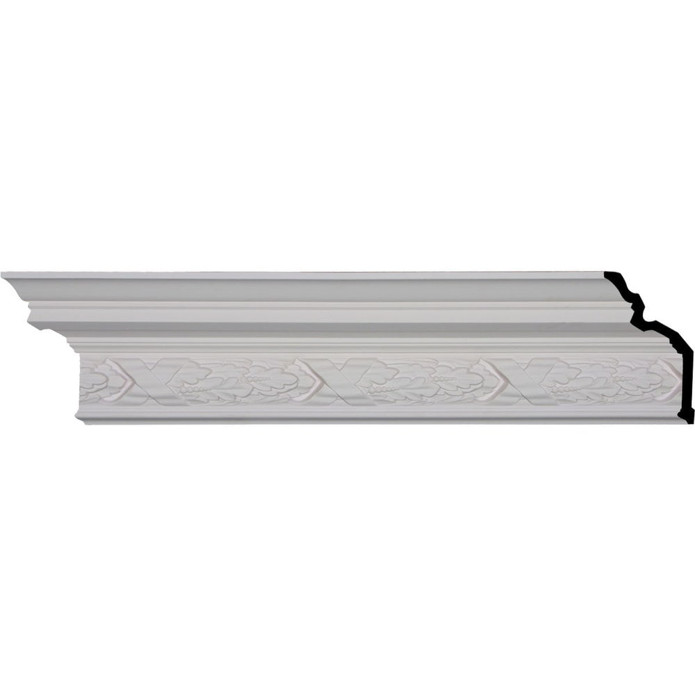 Ekena Millwork Polyurethane Crown Moldings/Dublin Crown Molding 9 5/8' Repeat / 7 1/4'H x 5 3/8'P x 8 5/8'F x 95 3/4'