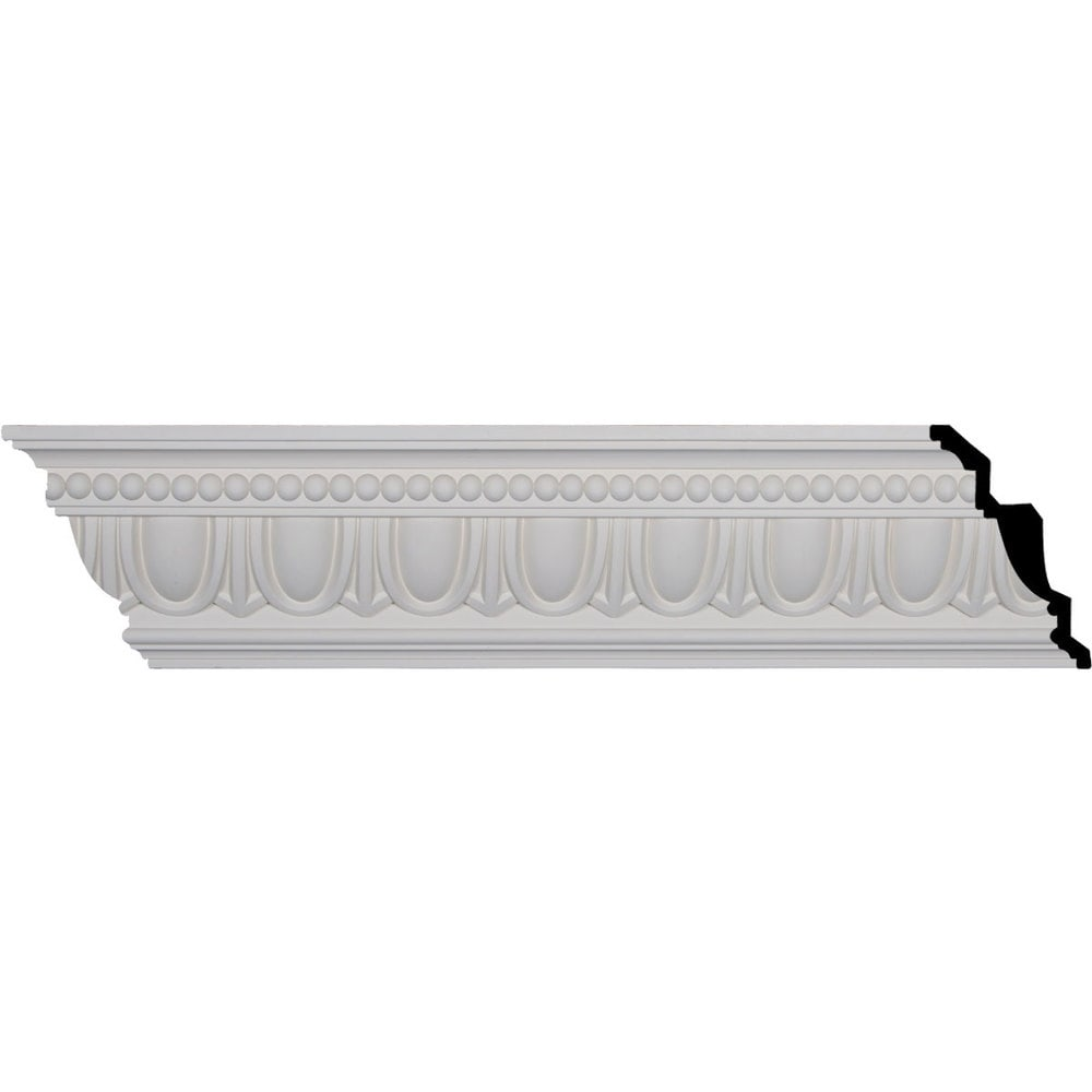 Ekena Millwork Polyurethane Crown Moldings/Egg and Dart Crown Molding 4' Repeat / 7 1/4'H x 5'P x 8 3/4'F x 96 1/8'