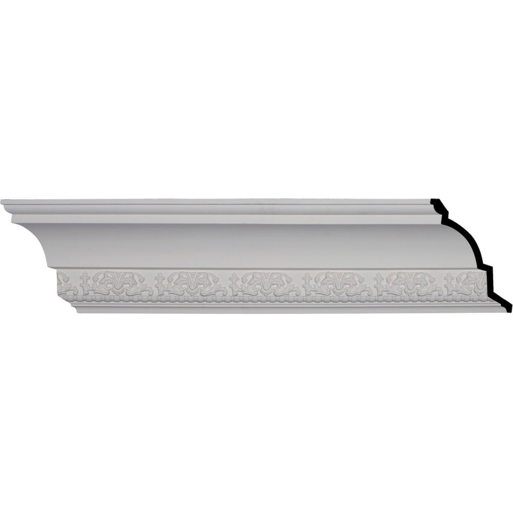 Ekena Millwork Polyurethane Crown Moldings/Athena Crown Molding 5 3/8' Repeat / 7 1/8'H x 6 1/4'P x 9 1/2'F x 95 7/8'