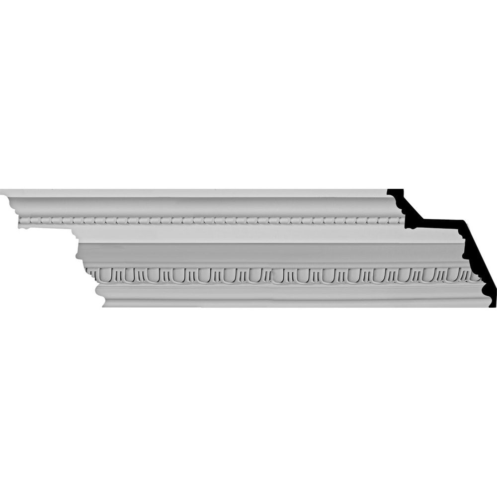 Ekena Millwork Polyurethane Crown Moldings/Bedford Beaded Crown Molding 1 1/2' Repeat / 7 3/8'H x 7 1/4'P x 10 1/4'F x 96'