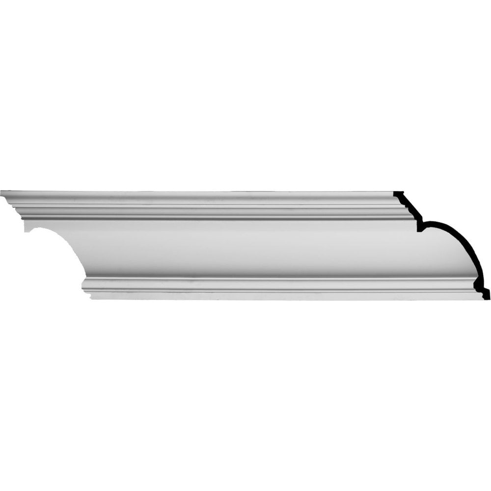 Ekena Millwork Polyurethane Crown Moldings/Foster Traditional Crown Molding / 8 1/4'H x 6 5/8'P x 10 5/8'F x 94 1/2'