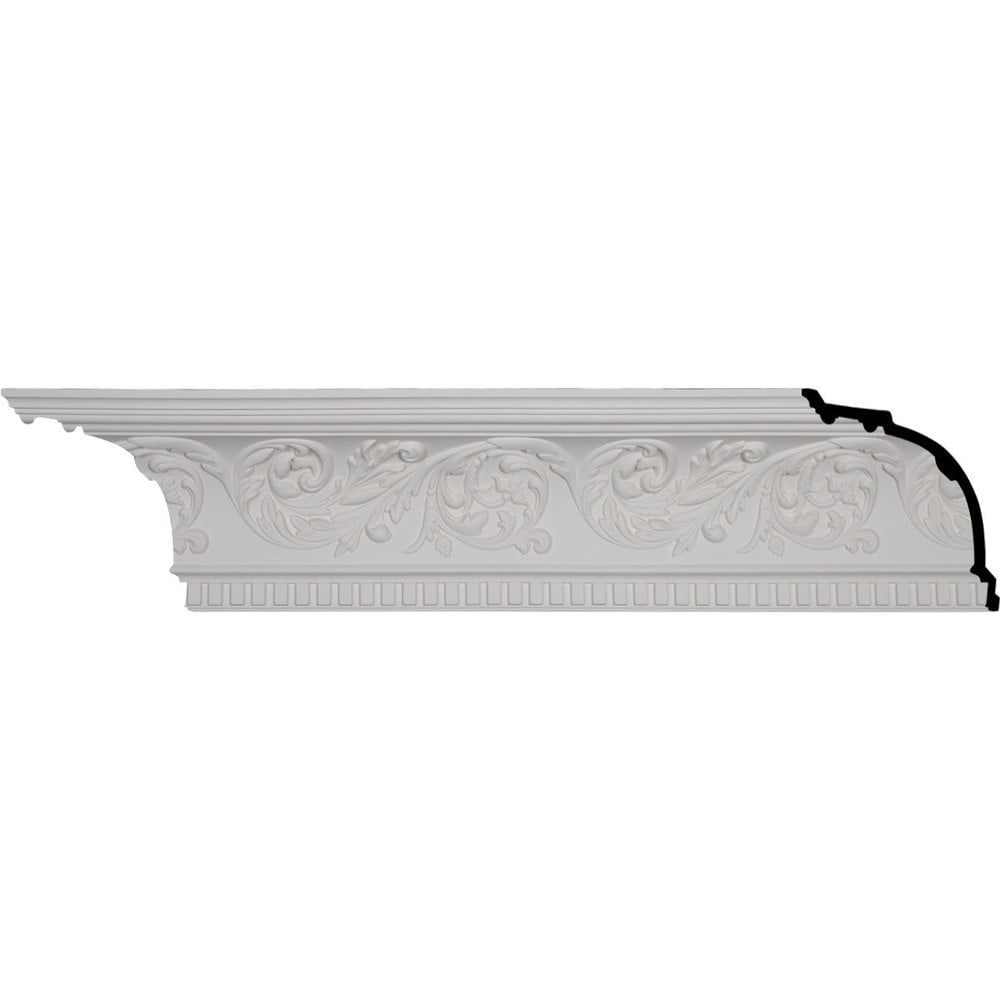 Ekena Millwork Polyurethane Crown Moldings/Harvest Cove Crown Molding / 8 5/8'H x 8 1/8'P x 11 3/4'F x 96 1/8'