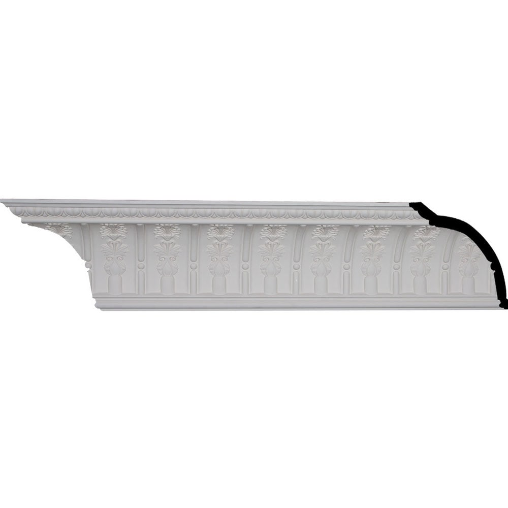 Ekena Millwork Polyurethane Crown Moldings/Titus Crown Molding 4 7/8' Repeat / 9 1/4'H x 7 1/2'P x 11 7/8'F x 95 7/8'