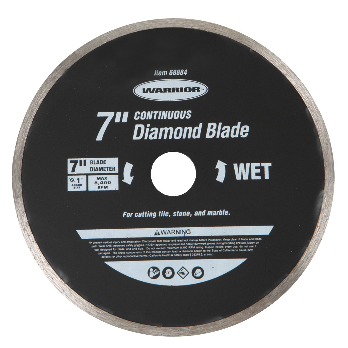 7 in. Continuous Rim Wet Cut Masonry Diamond Blade