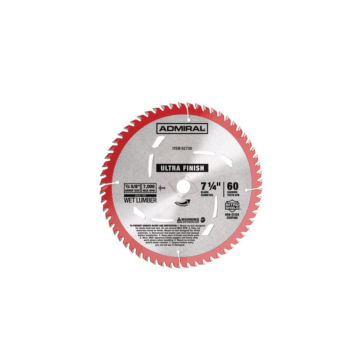 7-1/4 in. 60T Ultra Finish Circular Saw Blade