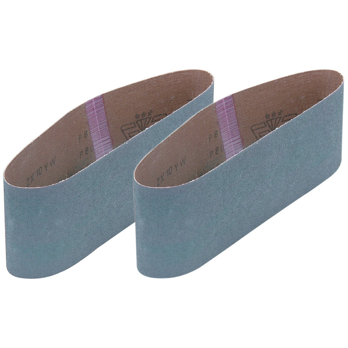 3 in. x 21 in. 80 Grit Zirc Sanding Belt 2 Pc