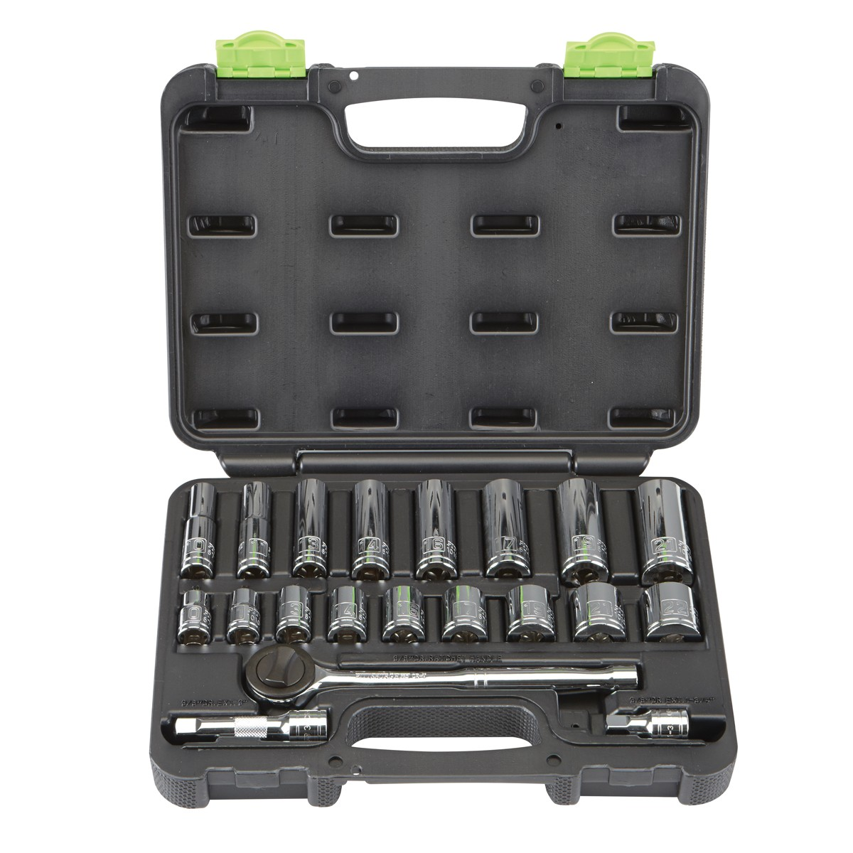 20 Pc 3/8 in. Drive Metric Socket Set